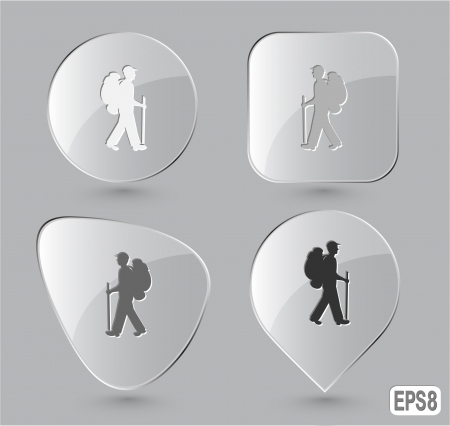 Traveller. Glass buttons. Vector illustration. illustration