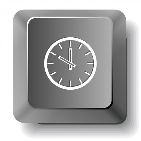 Reloj. Vector tecla de la computadora. photo