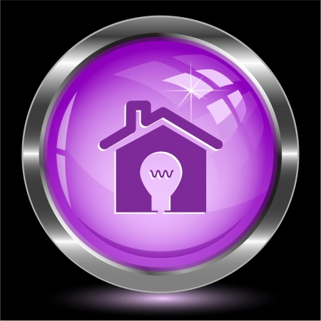 Light in home. Internet button. Vector illustration. illustration