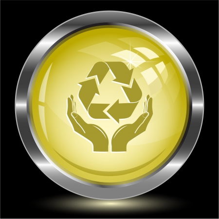 Protection nature. Internet button. Vector illustration. illustration