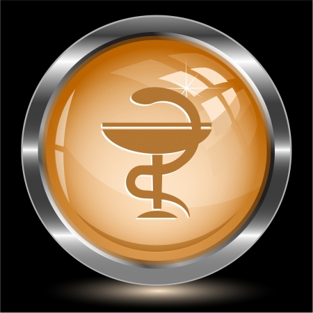 Pharma symbol. Internet button. Vector illustration. illustration