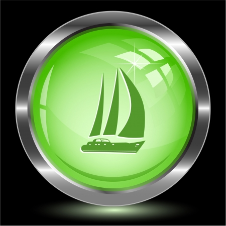 Yacht. Internet button. Vector illustration. illustration