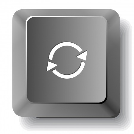 Recycle symbol. Vector computer key. Stock Photo - 17344471