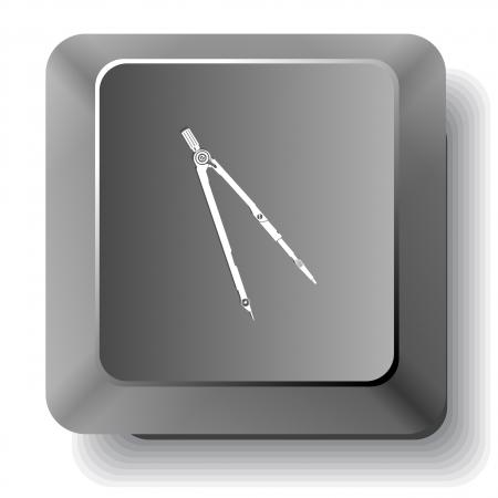 Caliper. Vector tecla de la computadora. photo