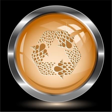 Recycle symbol. Internet button. Vector illustration. Stock Illustration - 17388733
