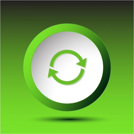 Recycle symbol. Plastic button. Vector illustration. Stock Illustration - 17388748