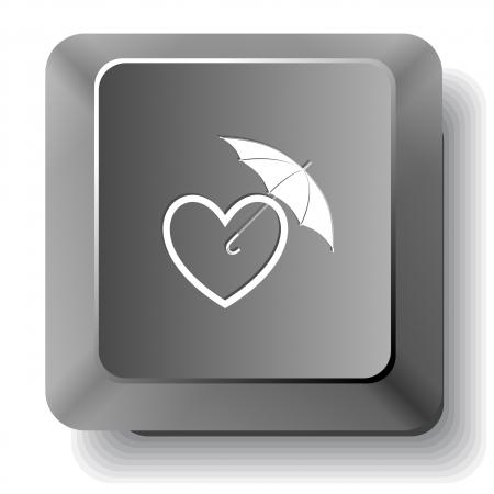 Protection love. Vector computer key. photo