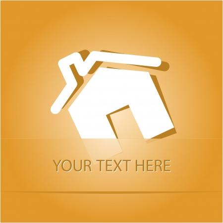 Home. Paper sticker as bookmark. Vector illustration. Eps10. Stock Illustration - 17388720