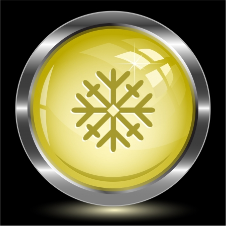 Snowflake. Internet button. Vector illustration. illustration