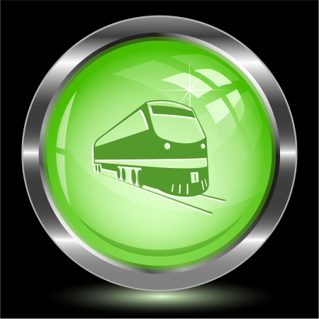 Train. Internet button.  illustration. illustration