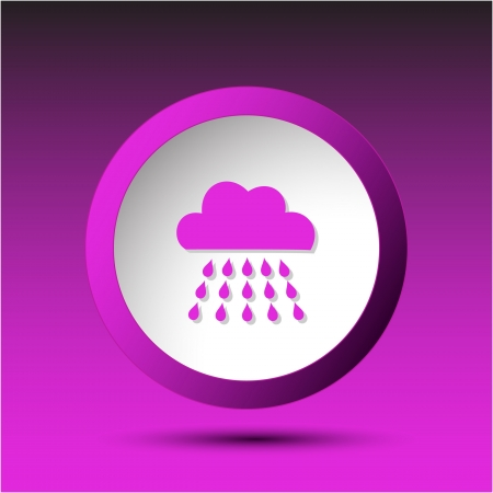 Rain. Plastic button.  illustration. Stock Illustration - 17511691