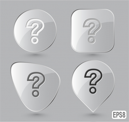 Query. Glass buttons.  illustration. Stock Illustration - 17511792