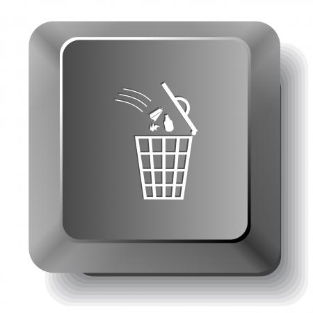Bin.  computer key. Stock Photo - 17511689