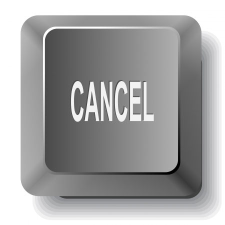 Cancel.  computer key. photo