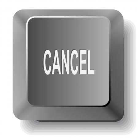 undoing: Cancel.  computer key.