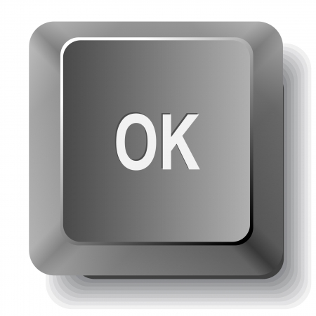 Ok. computer key. Stock Photo - 17511683