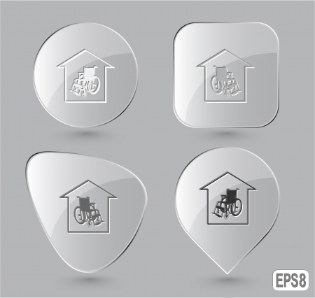 Nursing home. Glass buttons. Vector illustration. illustration