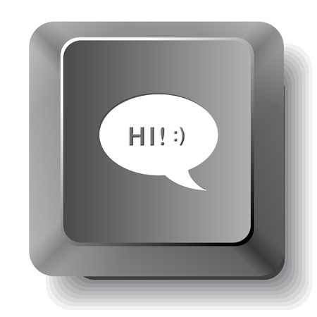 Chat symbol  Vector computer key  photo