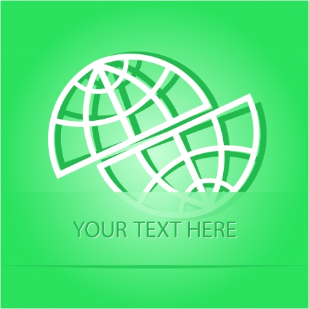 Shift globe  Paper sticker as bookmark  Vector illustration  illustration