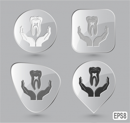 health in hands. Glass buttons. illustration. illustration