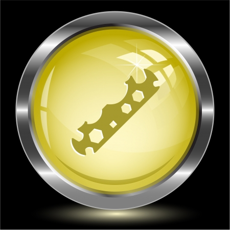 Cycle spanner. Internet button. Vector illustration. Stock Illustration - 17718772
