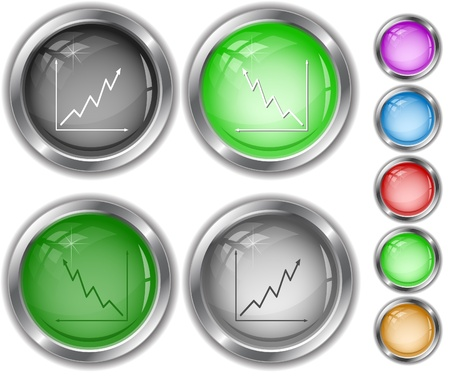Diagram. Internet buttons. photo