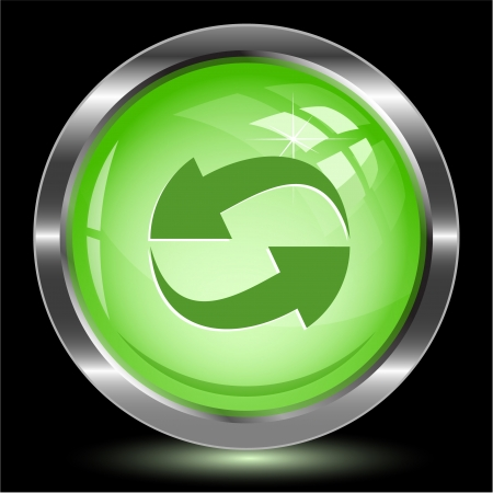 Recycle symbol. Internet button. Vector illustration. Stock Illustration - 17719016