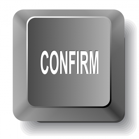 Confirm. Vector computer key. Stock Photo - 17718775