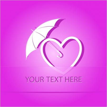 Protection love. Paper sticker as bookmark. illustration. Stock Illustration - 17718908