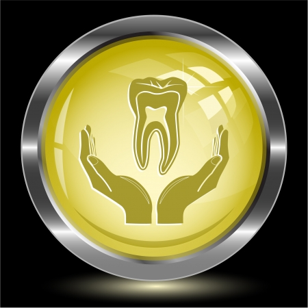 health in hands. Internet button. Vector illustration. illustration