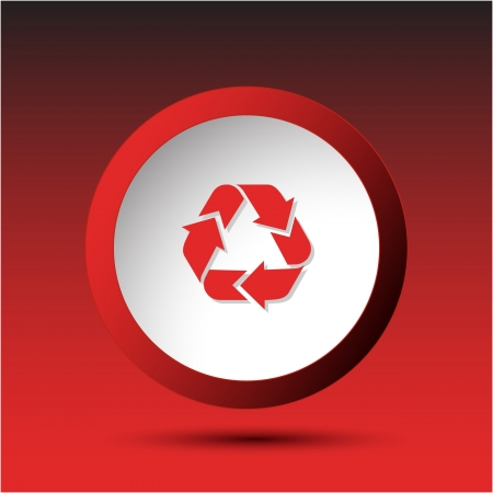 Recycle symbol. Plastic button. Vector illustration. illustration