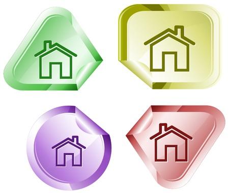 hamose: Home. Vector sticker.