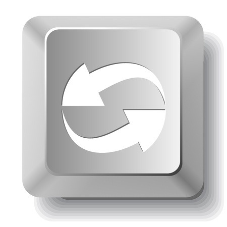 Recycle symbol. Vector computer key. photo