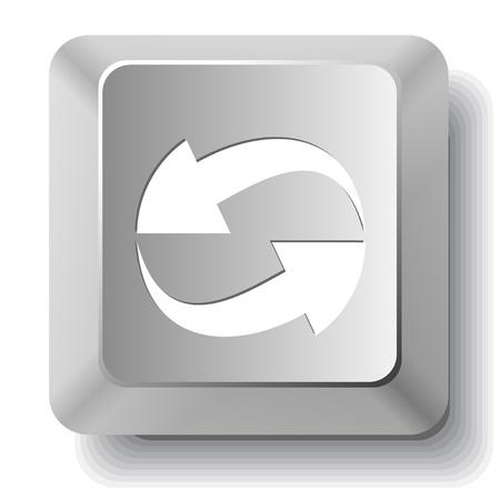 Recycle symbol. Vector computer key. Stock Photo - 17833505
