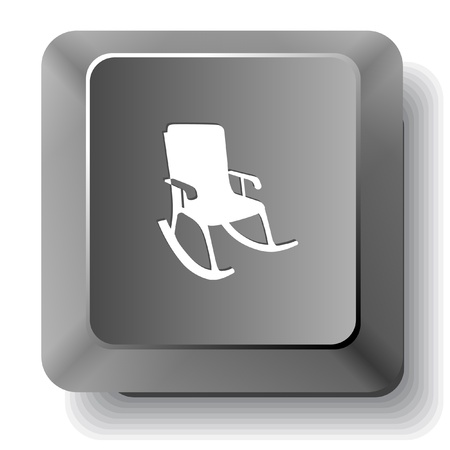 Armchair. Vector computer key. photo