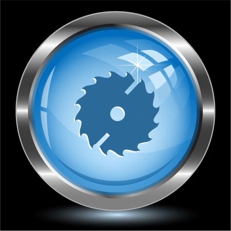 Circ saw. Internet button. Vector illustration.