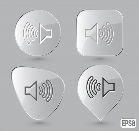 Loudspeaker. Glass buttons. Vector illustration. illustration