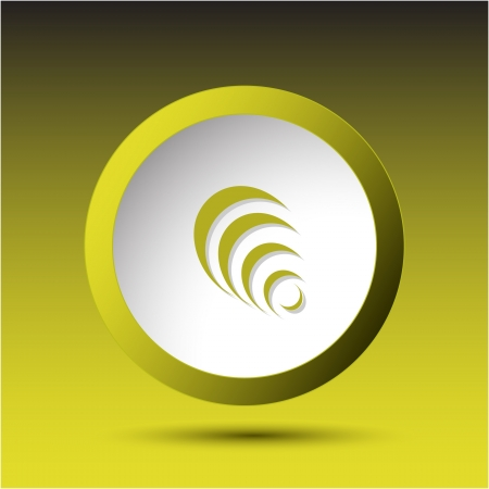 incurved: Pyramid. Plastic button. Vector illustration. Stock Photo