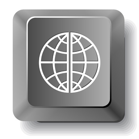 Globe.  computer key. photo