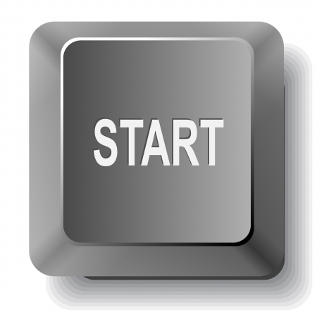 Start.  computer key. Stock Photo - 18418266