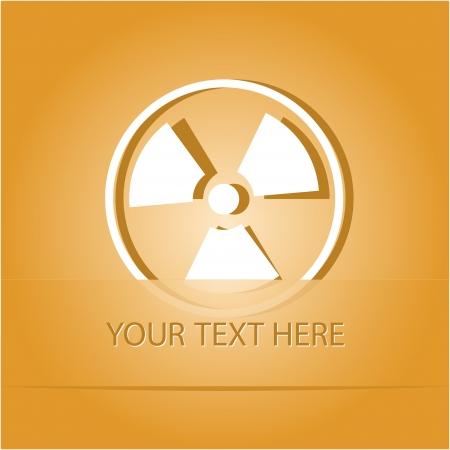 Radiation symbol. Paper sticker as bookmark.  illustration. Stock Illustration - 18418257