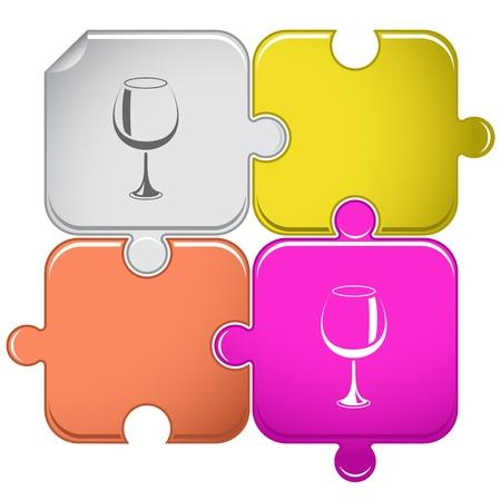 goblet: Goblet. Vector puzzle.