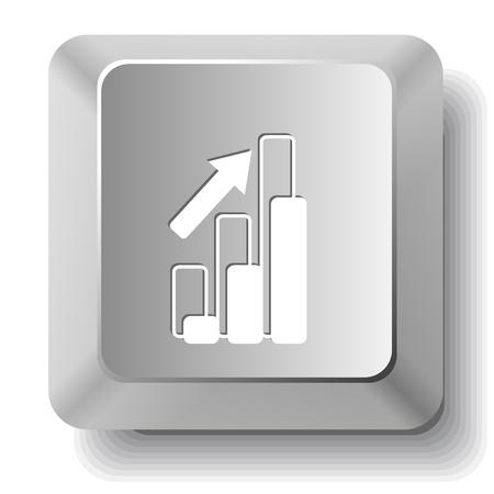 Diagram. computer key. Stock Photo - 18711028