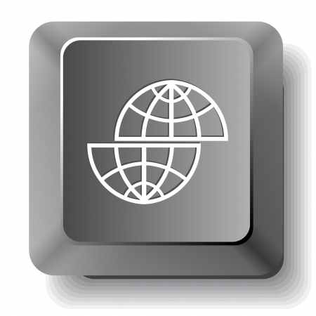 Shift globe. computer key. photo
