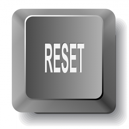 Reset. computer key. photo