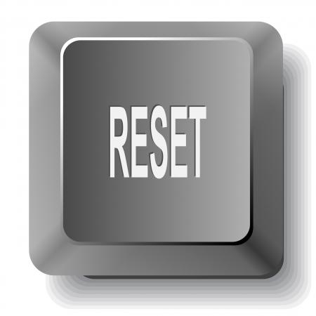 undoing: Reset. computer key. Stock Photo