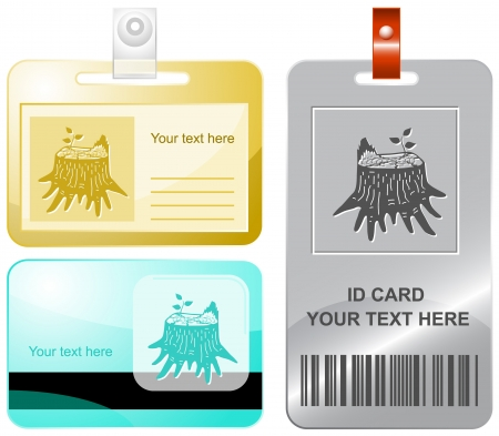 rind: Stub. Vector id cards. Stock Photo