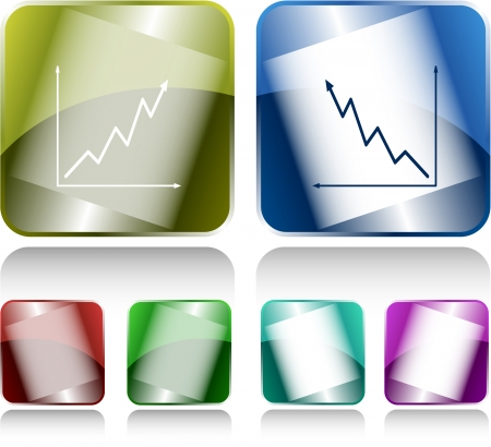Diagram. Internet buttons. Raster illustration. illustration
