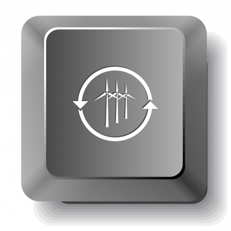 Wind turbine.computer key. Stock Photo - 19456967