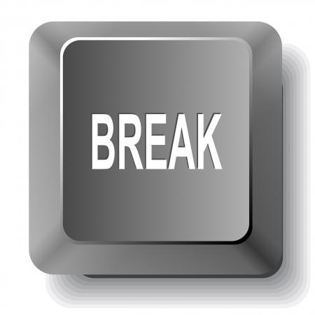 disabling: Break. computer key.